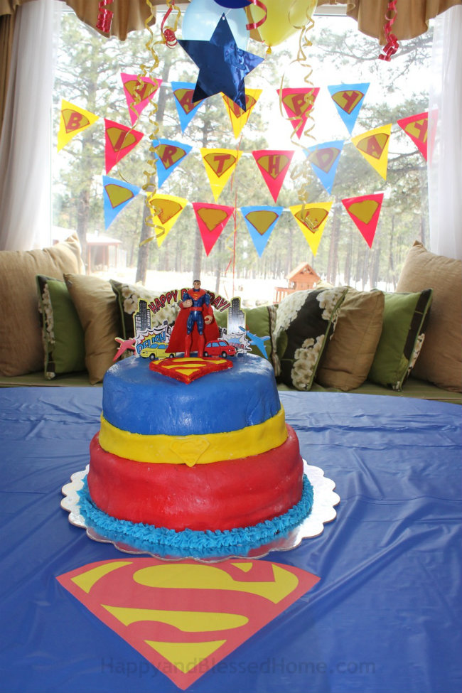 Custom Superman Happy Birthday Banner