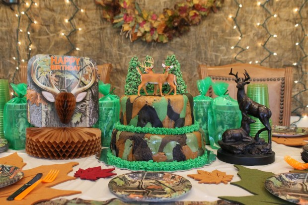 Duck Dynasty Hunting Theme Birthday Party Camoflage Cake HappyandBlessedHome