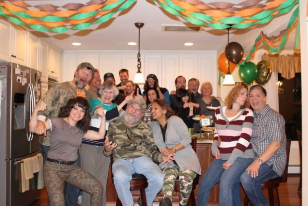 Camouflage hunting theme party fun happy and blessed home duck dynasty hunting theme birthday party guests having fun happyandblessedhome filmwisefo Gallery
