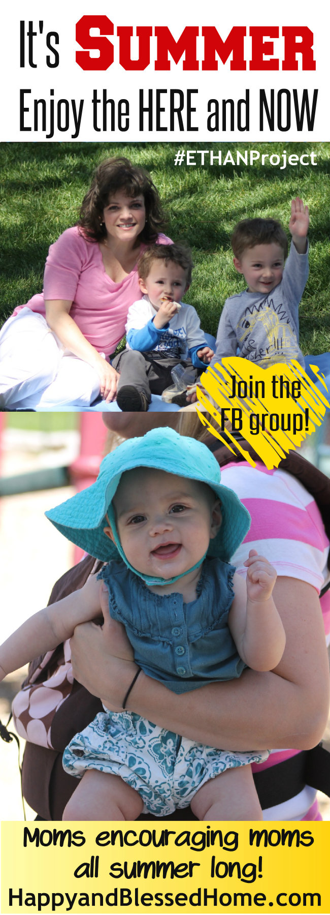 #ETHANProject Enjoy friendship this summer - encouraging moms to enjoy time with girlfriends with free planner and FB group at HappyandBlessedHome.com