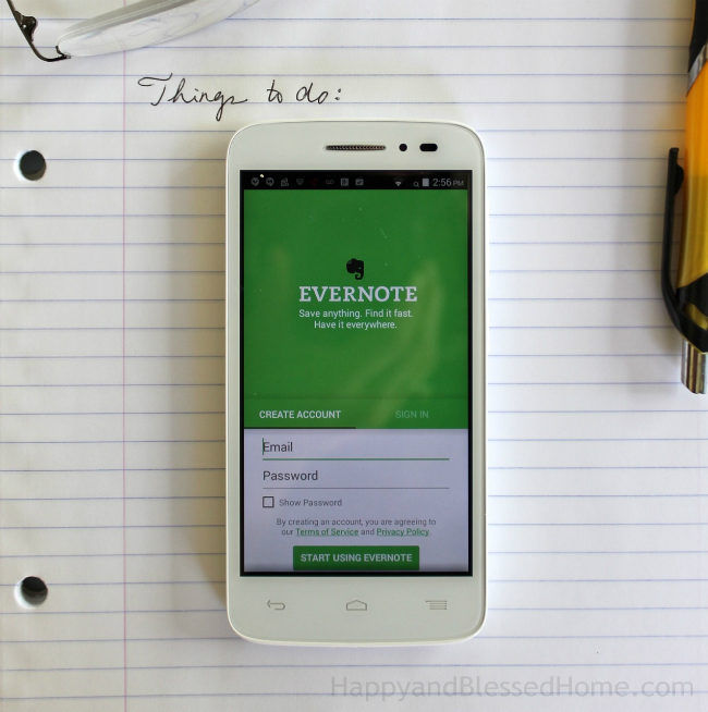 Evernote is your personal master to do list photo copright 2015 HappyandBlessedHome
