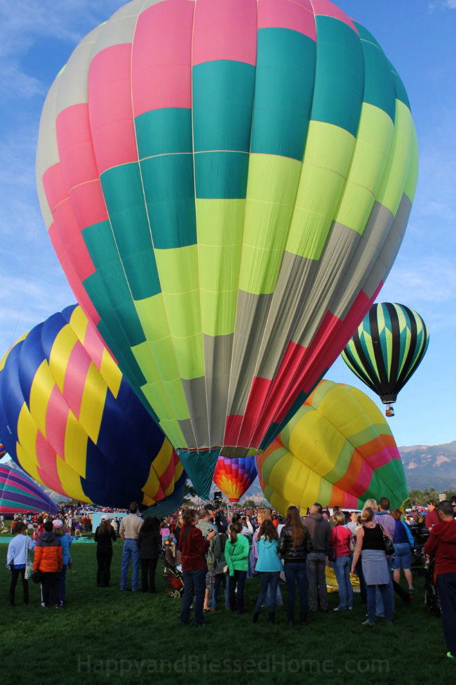 Filling a Hot Air Balloon Photo Copyright 2015 HappyandBlessedHome.com