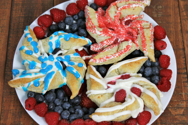 Fireworks display pastries in red white and blue perfect for a patriotic holiday by HappyandBlessedHome
