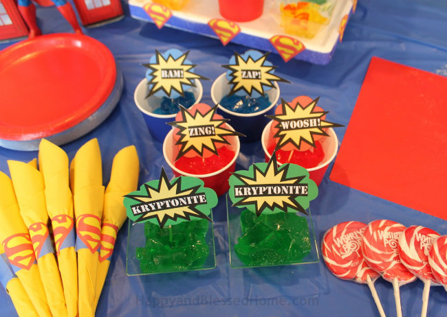 Fun Superman BIrthday Party Printables from HappyandBlessedHome.com