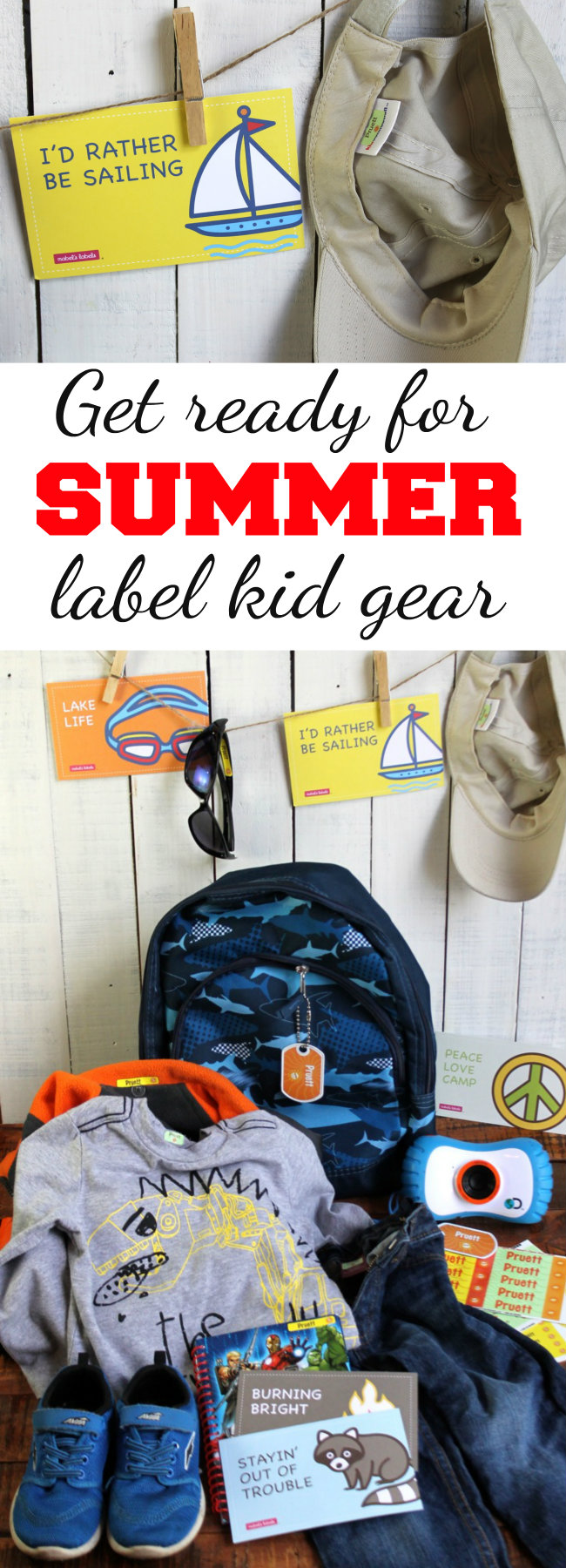 Get Ready for Summer - Label Kid Gear Tips and Resources from HappyandBlessedHome.com