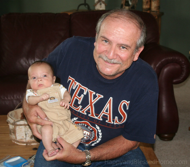 Grandpa and Grandson photo copyright 2015 HappyandBlessedHome.com