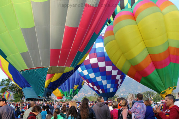 Hot Air Balloon Launch Photo Copyright 2015 HappyandBlessedHome