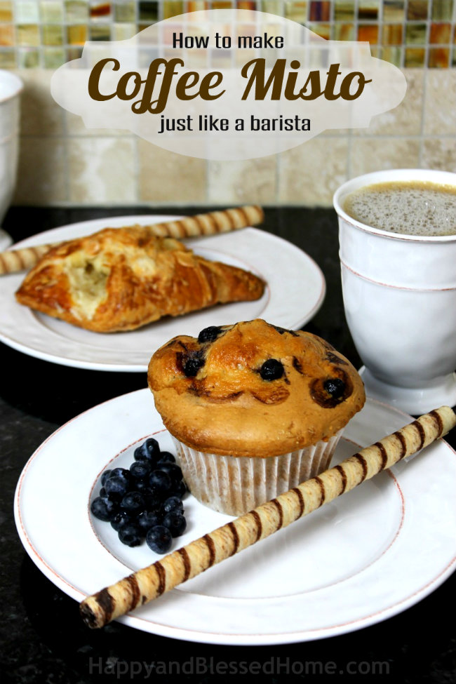 How to make Coffee Misto just like a barista using steamed and frothy milk by HappyandBlessedHome