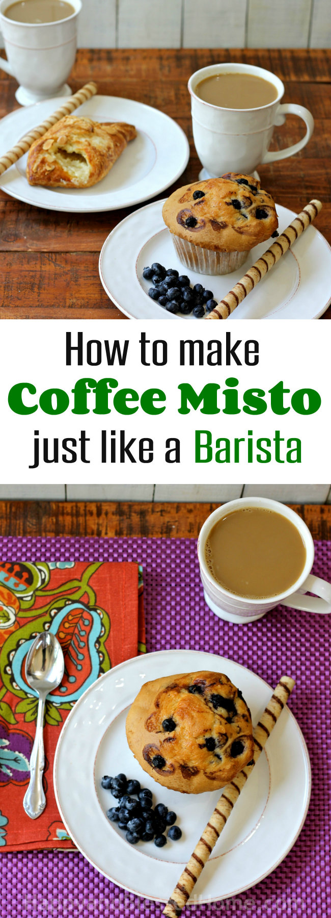 How to make coffee misto just like a barista with McCafe Premium Roast coffee and steamed milk recipe by HappyandBlessedHome