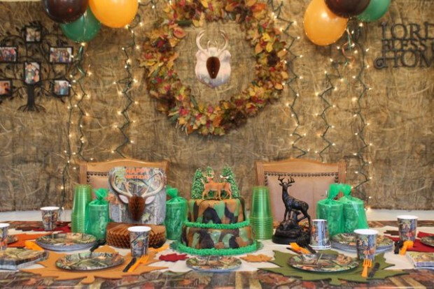 Hunting Theme Birthday Party 8 HappyandBlessedHome