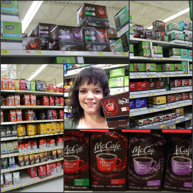 McCafe Collage of 8 Flavors of Premium Arabica Coffee avilable at Walmart