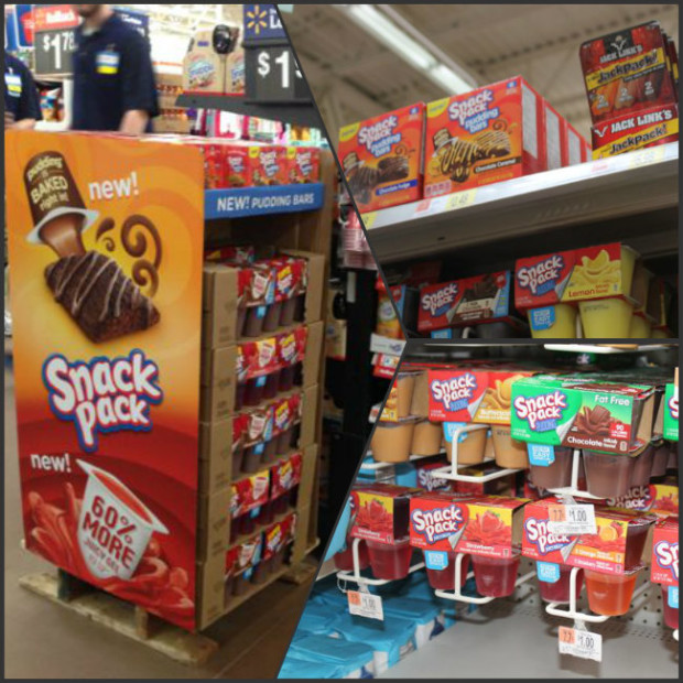New 60 percent more Snack Pack Juicy Gels and Snack Pack Pudding Bars at Walmart