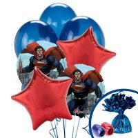 Superman Balloons Button