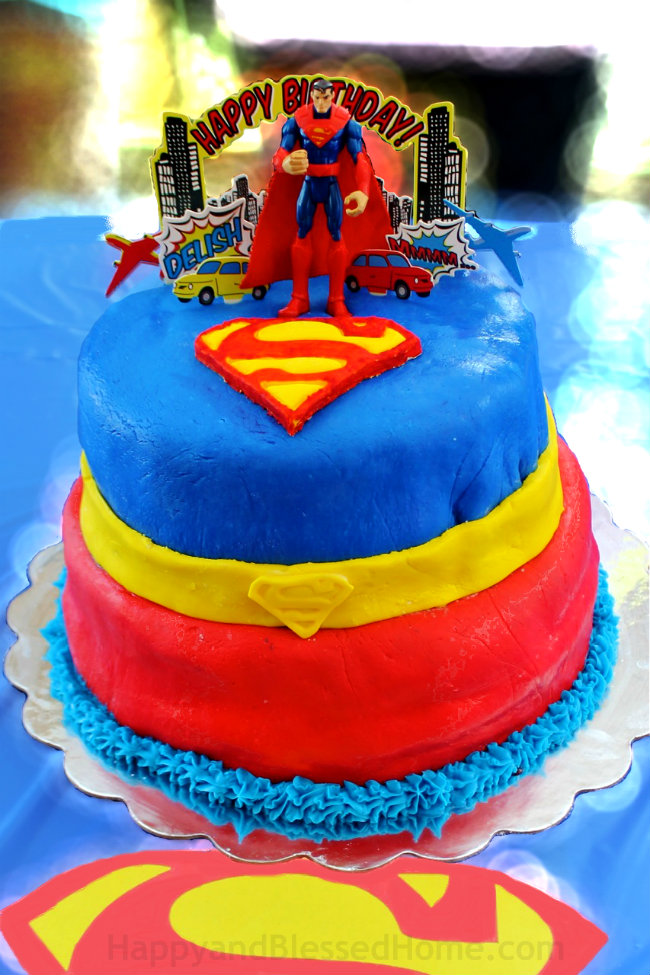 Superman Birthday Cake For Five Year Old Party With Chocolate And Marshmallow