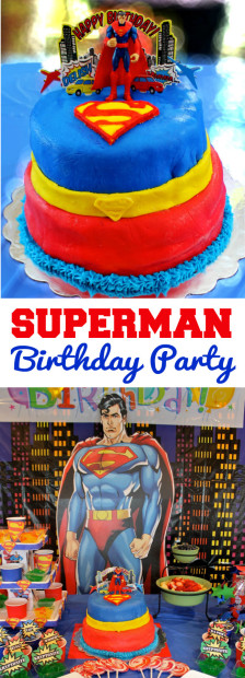 Superman Birthday Party Decorations Cake Games Food Prizes from HappyandBlessedHome.com