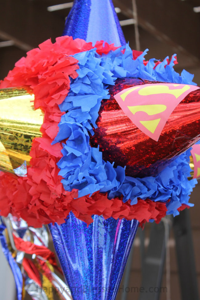 Superman Pinata for Superman Party Fun at HappyandBlessedHome.com