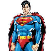 Superman Standup Button