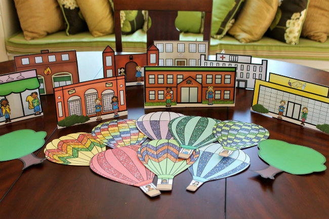 The Hot Air Balloon Activity Pack for kids includes activities and party decor from HappyandBlessedHome