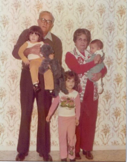 Three girls and their grandparents photo copyright 2015 HappyandBlessedHome.com