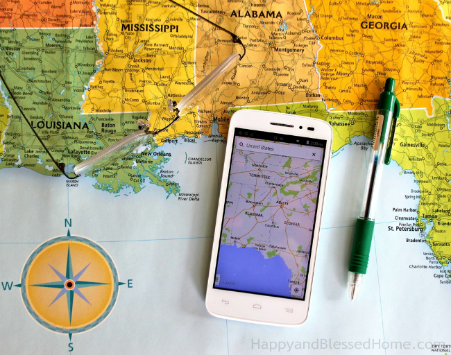 Use Google maps to plan a family get together or trip photo copyright 2015 HappyandBlessedHome