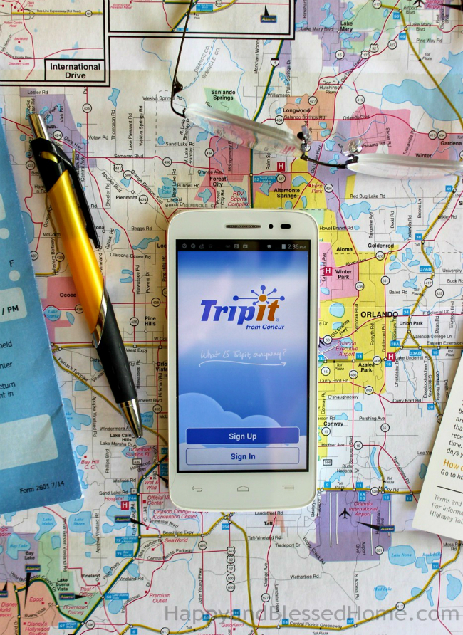 Use the Trip It app to plan flights hotels and other travel photo copyright 2015 HappyandBlessedHome