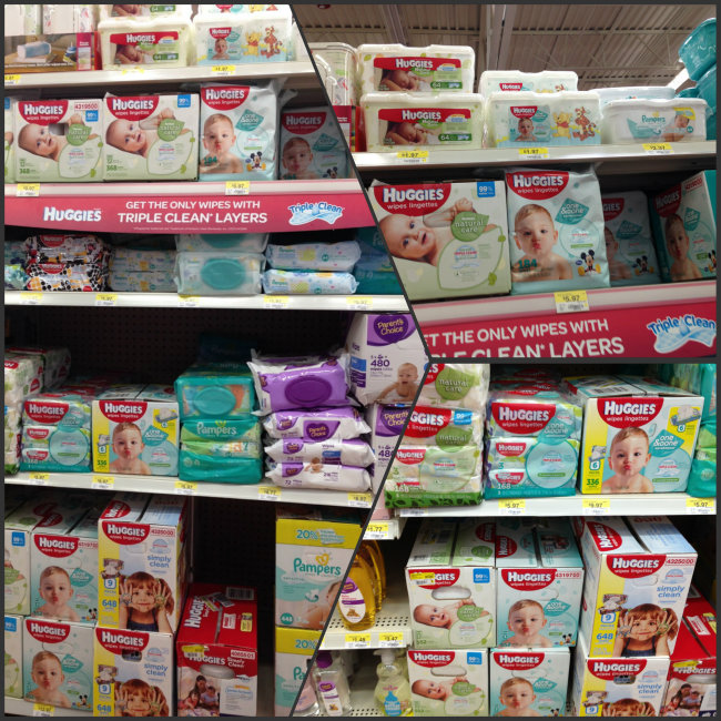 Where to find Huggies Wipes at WAlmart