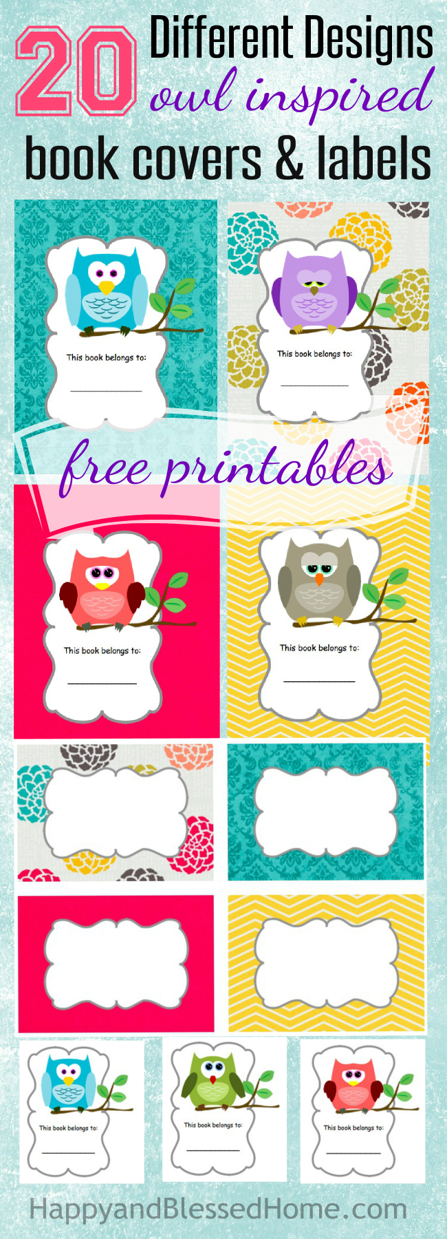 Printable Book Cover Labels : Free scholastic books owl book labels and smores