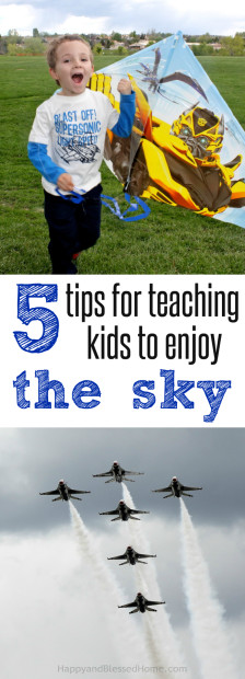 5 Tips for teaching Kids to Enjoy the Sky - Parenting Tips by HappyandBlessedHome