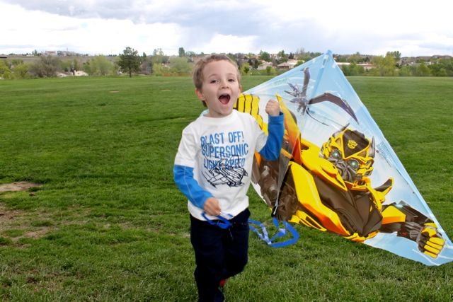 Childhood fun - flying a kite photo copyright 2015 HappyandBlessedHome