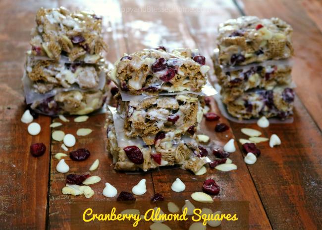 Cranberry Almond Squares horizontal