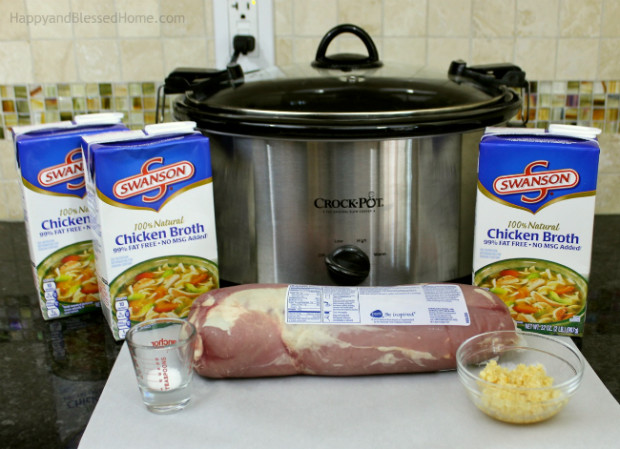 Crockpot Pull-Apart BBQ Pork made with Swansons Chicken Broth recipe by HappyandBlessedHome