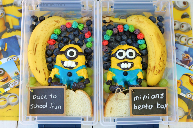 FREE Minions Play Doh Mat Printables and Minons Bento Box Tutorial with two lunchbox designs - photo copyright 2015 HappyandBlessedHome.com