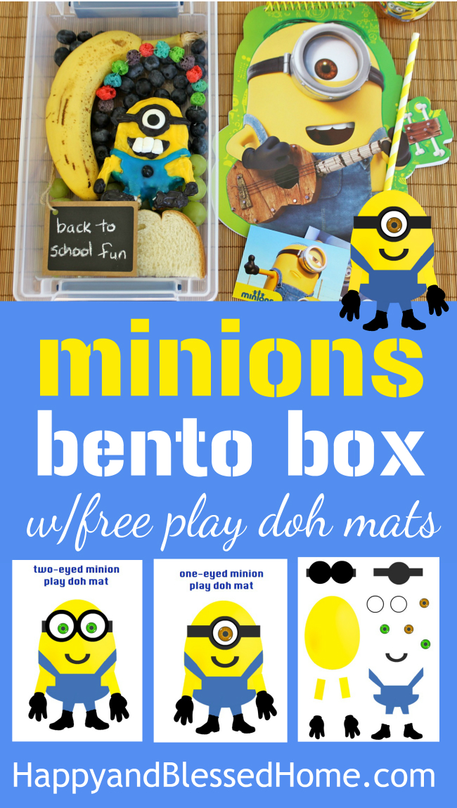 FREE Printable Minions Play Doh Mats and Minions Bento Box Tutorial lunch easy recipe for kids from HappyandBlessedHome.com.jpg