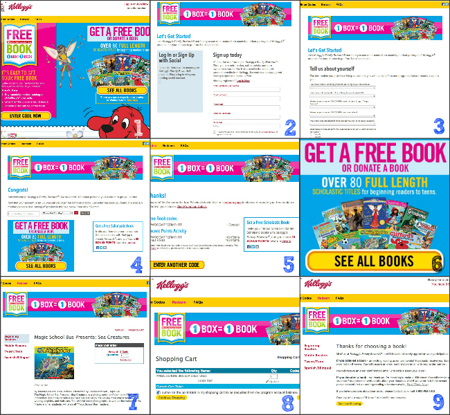 FREE Scholastic Book from Kellogs Family Rewards Tutorial Collage by HappyandBlessedHome.com