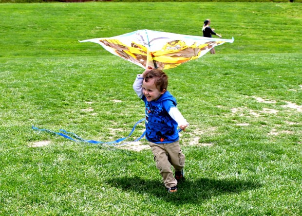 Flying a Kite at the park photo copyright 2015 HappyandBlessedHome
