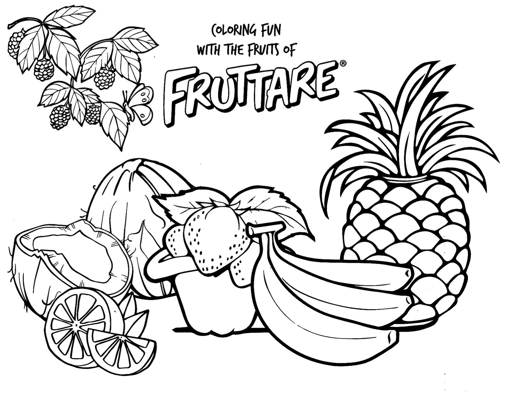 Have fun coloring fruit. These free printable coloring pages ...