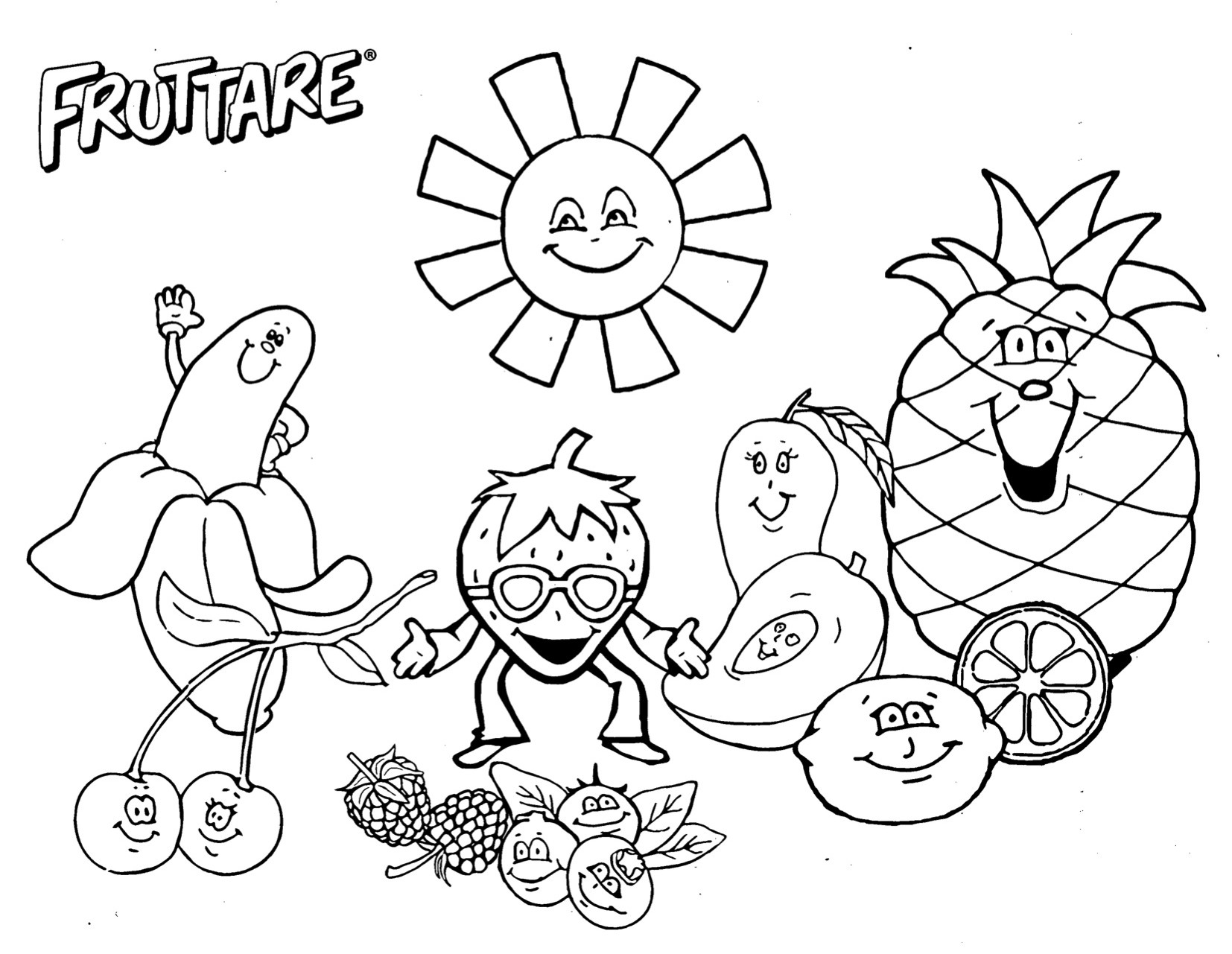 5 fun fruit activities for families happy and blessed home for Fruit coloring pages for kids