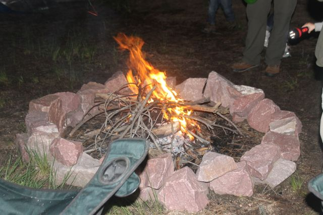 A campfire with marshmallows makes for a memorable camping trip