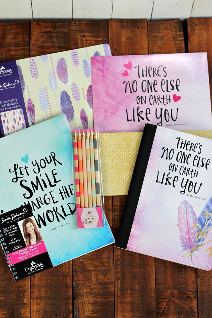 """Live Original"" composition notebook, journal, and file folders at Walmart photo copyright 2015 HappyandBlessedHome.com"
