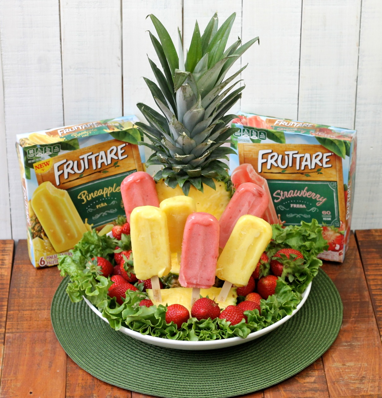 Pineapple Centerpiece with Fruttare photo copyright 2015 HappyandBlessedHome