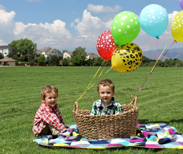 Pretending to take off in a hot air balloon basket - photo copyright HappyandBlessedHome
