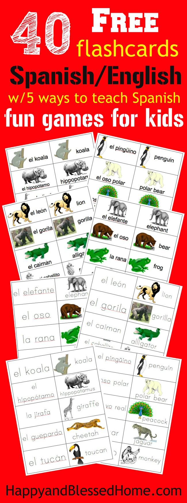 Dashing image with regard to spanish flashcards printable