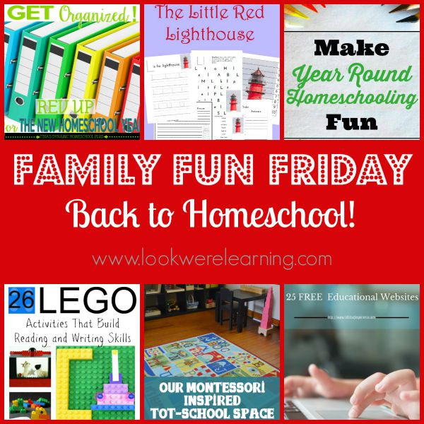Back to Homeschool with Family Fun Friday