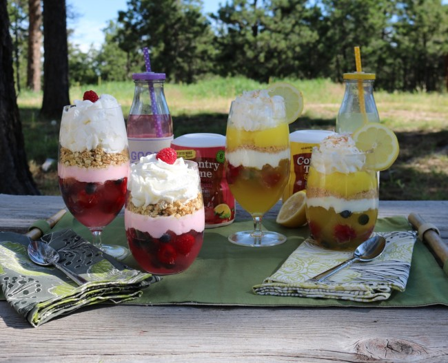 Berry Special and Lemon Bar Parfaits