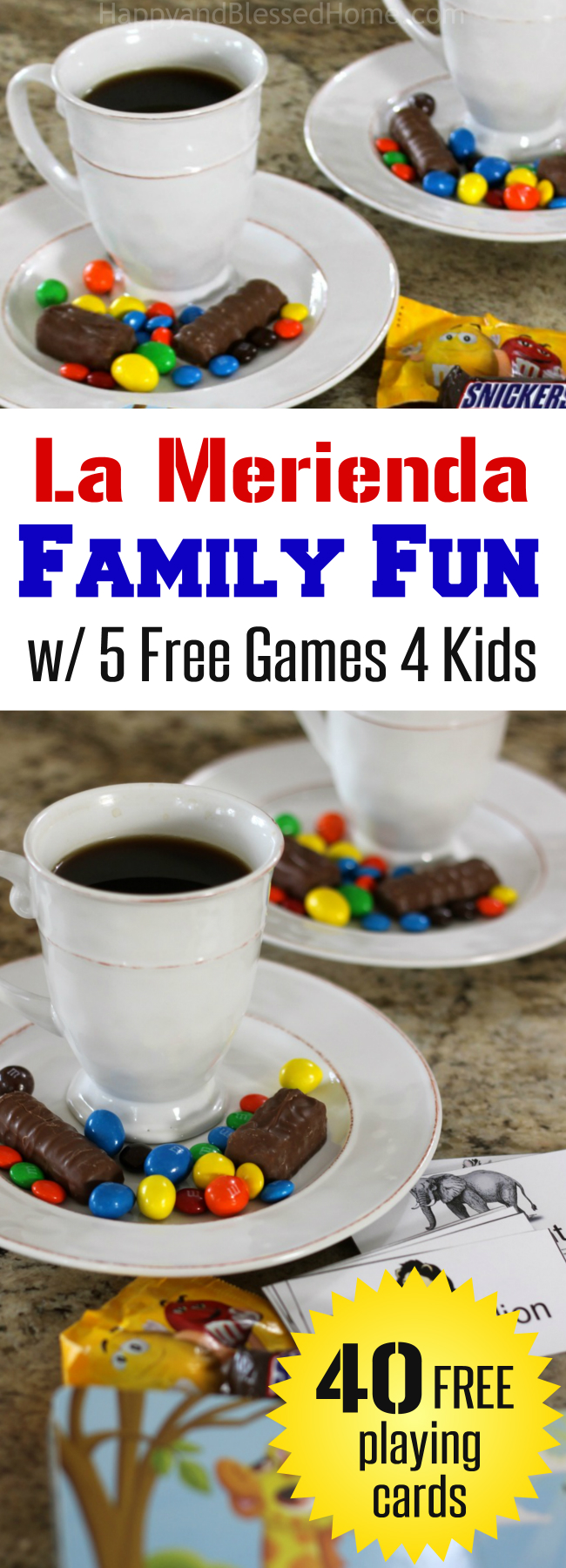 La Merienda Family Fun with 5 free games for kids and parents to play to learn Spanish from HappyandBlessedHome.com
