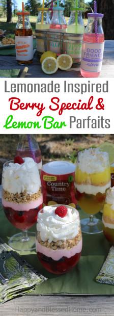 Lemonade Inspired Berry Special Parfait and Lemon Bar Parfait recipes by HappyandBlessedHome.com.jpg