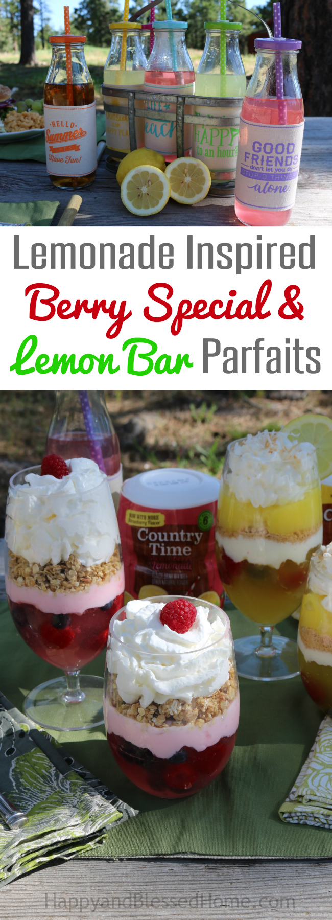 Lemonade Inspired Berry Special Parfait and Lemon Bar Parfait recipes by HappyandBlessedHome.com.jpg