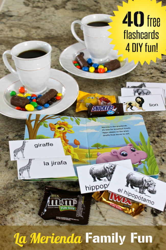 MARS Chocolate Favorites and 40 FREE Wild Animal Flashcards in Spanish and English for DIY Family Fun from HappyandBlessedHome.com