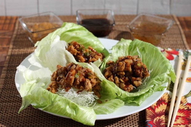 Ready to Eat PF Chang's Chicken Lettuce Wraps Copycat Recipe by HappyandBlessedHome