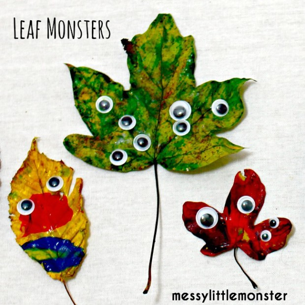 $300 Cash Giveaway and 20 FUN Fall Activities and Crafts for Families - Leaf Monsters